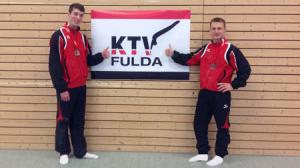Benedikt Hofner und Yves Matthess zufrieden nach diesem Finale.