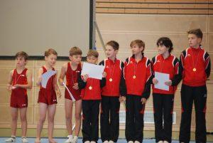 Große Freude über die errungenen Medallien