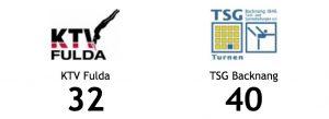 Endergebnis KTV Fulda gegen TSG Backnang